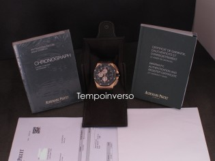 AUDEMARS PIGUET Chrono rose gold rubber full set & AP serviced 2020 Royal oak offshore