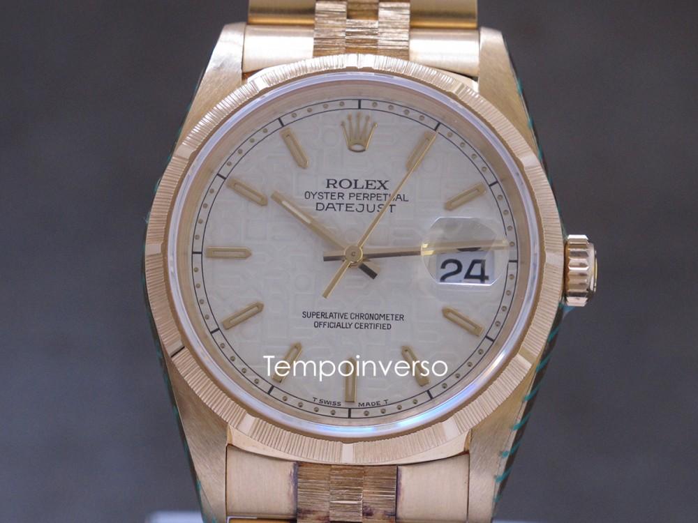 ROLEX Classic vintage yellow gold bark bezel & jubilee bracelet full full set Datejust
