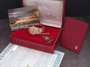ROLEX Yellow gold Rolex sticker back box and paper  Oysterdate
